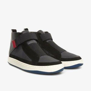 Camper Black Leather Sneakers Domus Boots Mid Top